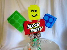 4 Block Party Centerpiece Spikes, Lego party decorations Lego Party Decorations, Party Centerpieces, Block Party, Spikes, Party Ideas, Unique Jewelry, Handmade Gifts, Pictures, Etsy