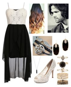 """Fictional Character dinner date: Sam Winchester"" by fangirl-fever ❤ liked on Polyvore featuring Karen Kane, Accessorize and Kendra Scott"