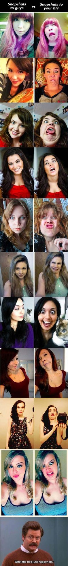 Snapchats guys vs bff