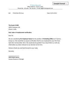 Internship Training Verification Letter Download At HttpWww