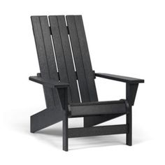 (CLICK IMAGE TWICE FOR UPDATED PRICING AND INFO) #adirondack #chairs #chair #patio #patiochairs #yardchairs #deckchairs #outdoorchairs Casual Living Simply Siesta Square Back Adirondack Chair Color – Slate Gray « zPatioFurniture.com