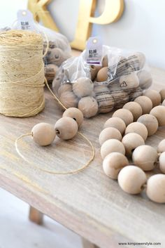 Wooden craft beads