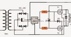The proposed induction heater circuit exhibits the use of high frequency magnetic induction principles for generating substantial magnitude of heat over a small specified radius. Electronics Components, Diy Electronics, Electronics Projects, Induction Heating, Electronic Schematics, Circuit Projects, Diy Projects, Circuit Diagram, Emergency Lighting