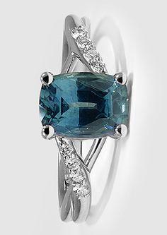 Sapphire Chamise Diamond Ring