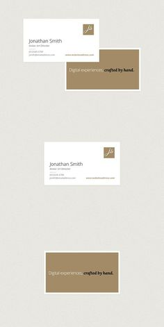 Elegant Horizontal Business Card. Business Card Templates