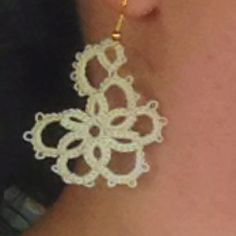 Needle tatted earring 3