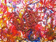 The Chocolate Muffin Tree: Spaghetti Worm Painting!!!