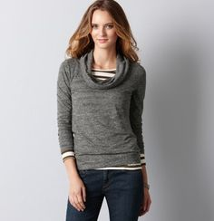 For Fall - Drape Neck Long Sleeve Sweater  $39 .50    NOW 40% OFF NO PROMO CODE NEEDED