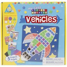 Buy My First Sticky Mosaics - Vehicles at Mighty Ape Australia. Let their imagination soar as your pre-schooler creates boats, planes, spaceships, and more! Bring all the fun and excitement of Sticky Mosaics you y. Mosaic Crafts, Mosaic Art, Road Trip Activities, Time Activities, Learning Activities, Crafts For Kids, Arts And Crafts, Plastic Hangers, Porno