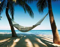 Hammock. Dads Favorite Spot in Hawaii on the Beach SOOOOOOOOOO White