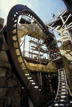 Indiana Jones et le Temple du Peril, facing forward, Disneyland Paris