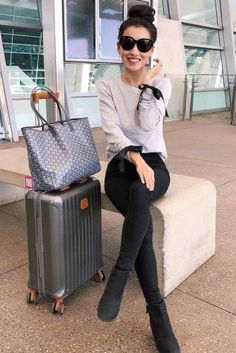 Extra Petite - Fashion, style tips, and outfit ideas Airport Travel Outfits, Airport Style, Comfy Airport Outfit, Traveling Outfits, Fancy Dress Outfits, Fall Outfits, Cute Outfits, Clothes For Sale, Online Shopping Clothes