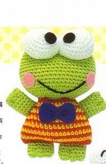 Patrones de crochet gratis: Keroppi amigurumi a crochet