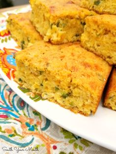 A rustic, savory Mexican cornbread recipe chocked full of jalapeno peppers, jack cheese, creamed corn and green onions. Savory Cornbread Recipe, Cornbread With Corn, Mexican Cornbread, Sweet Cornbread, Cornbread Casserole, Cornbread Muffins, Navajo, Sweet Butter, Creamed Corn