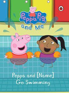 Personalised Peppa Pig swimming Book