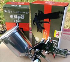 (43.88$)  Know more - http://ai8eg.worlditems.win/all/product.php?id=32590111342 - G Meiji W-71 G Spray Gun Gravity 400ml Made in Japan T