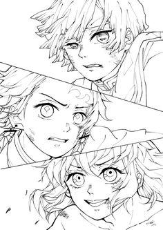 Anime Character Drawing, Manga Drawing, Manga Art, Manga Coloring Book, Coloring Books, Anime Drawings Sketches, Anime Sketch, Anime Lineart, Desenho Tattoo