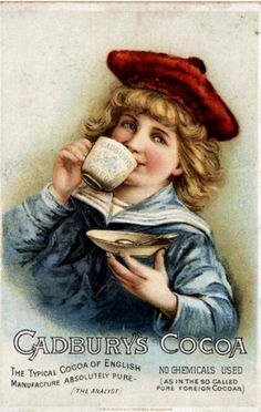 Cadbury's, Cocoa Drinking Chocolate, UK (1890) (1) From: Drinks Advertisements of the 1890s, please visit