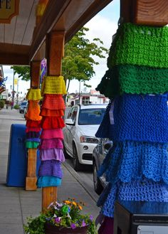 International Yarn Bombing Day - Sequim, Washington