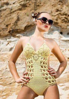 b0a7d442d Las 779 mejores imágenes de trajes de baño | Crochet Bikini, Yarns y ...