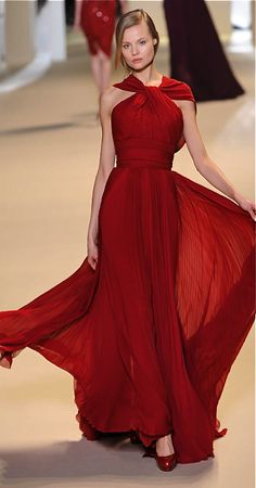Stunning red Elie Saab gown! Could I add sleeves and still have it look good?
