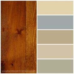 paint colours 2017 to match blonde wood - Google Search