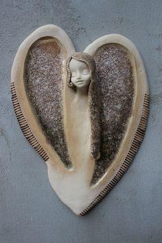 Anděl v srdci - křišťálovo -šedý