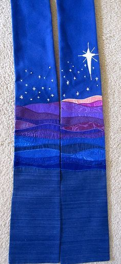 Advent Stole. Wish I was better at sewing would make this for my Uncle. Priests can be hard to buy for but I know he would love this.