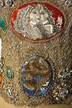 Caroline Herrera. Detail from an evening dress fall/winter 1992/1993.