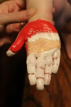 Handabdruck Weihnachtsmann