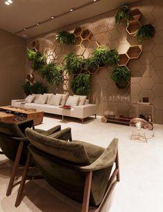 54 Trendy Ideas For Wall Paneling Ideas Lobby Spa Interior, Clinic Interior Design, Clinic Design, Restaurant Interior Design, Green Wall Decor, Office Interiors, Room Decor, House Design, Decoration