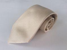 Sean John Neck Tie Yellow Beige Geometric 100% Silk #SeanJohn #NeckTie