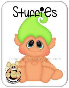Stuffies Troll - Treasure Box Designs Patterns & Cutting Files (SVG,WPC,GSD,DXF,AI,JPEG)
