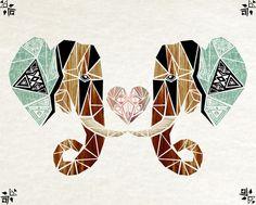 elephant love Art Print by Manoou | Society6