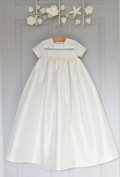 boys silk christening gown 'jack' by adore baby | notonthehighstreet.com