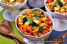 A sugestão de #almoço tem muitaaa leveza!! Que tal esta Salada de Pepino ao Vinagrete?  #Receita aqui: http://www.gulosoesaudavel.com.br/2013/01/28/salada-pepino-vinagrete/