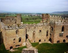 Ludlow Castle in Shropshire.  Residence of the family of Richard, Duke of York [1411-1460].  The stairs in the foreground lead to the Great Hall.