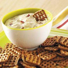 Dijon-Bacon Dip for Pretzels - substitute with plain greek yogurt instead of mayo.