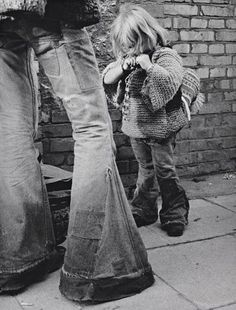 Bell Bottoms- proof we had no choice as kids! Lol
