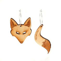 Fox Earrings - I LOVE these...