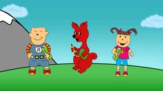 Roy, Loo-Loo, and Shirl love to read! See them and more lovable characters in Loo-Loo's Alphabet Matching Game. #gif