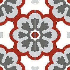 Nos Motifs | carreaux de ciment | Carreaux de ciment et carrelage Cimenterie de la Tour: carreau fait main Minimalist Small Kitchens, Art Tropical, Mandala, Red Kitchen Decor, Floor Art, Diy Carpet, Tile Patterns, Islamic Art, Wall Tiles