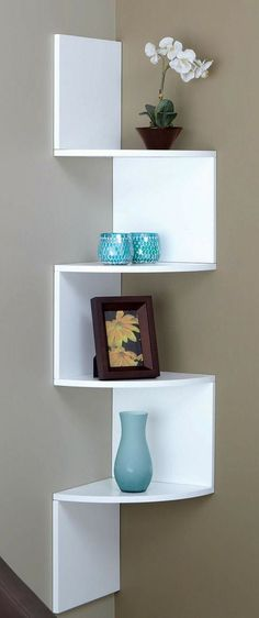 Corner Zig Zag Wall Shelf //