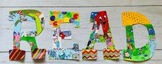 Painting Wooden Letters, Painted Letters, Hand Painted, Letter Set, Letter Wall, Read Letters, Storybook Nursery, Teacher Signs, Classroom Walls