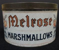 Melrose Marshmallow Advertising Tin Country by TimberRidgeAntiques