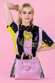 Caro Daur teams up with Versace to show the different personalities of the   PalazzoEmpire bag 4406a38fd4606