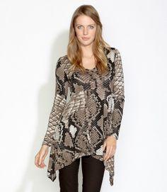 e02004df7b9 Karen Kane Plus Size Python Handkerchief Top  110 Plus Size Blouses