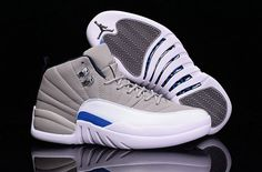 564bcd7a79e7 Find Jordan Retro 12 XII Basketball Mens Shoe White Grey Color online or in  Nikelebron. Shop Top Brands and the latest styles Jordan Retro 12 XII  Basketball ...