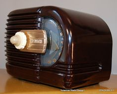 *American*Radio*Design* - Greg Mercurio - Deco-Mid Century, Retro Styled Vintage Tube Radios   : 6D-311 ZENITH ART DECO TUBE RADIO 6D311   (3263)