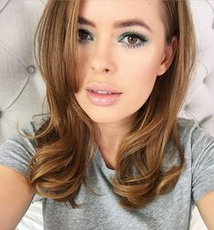 spring makeup, bright eyes, nude lips